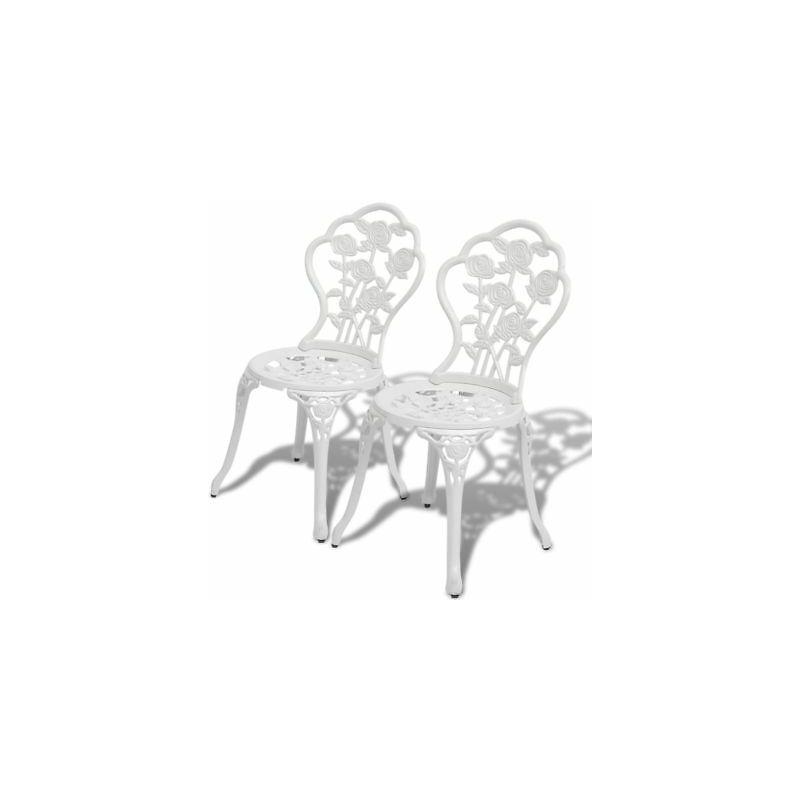 Sedie Da Giardino Bianche.Sedie Da Giardino Bistro Bianche Set 2 Pz 41x49x81 5 Cm In