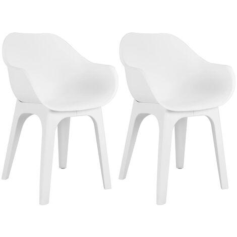 Sedie Da Giardino Bianche.Sedie Con Braccioli Da Giardino Bianche Al Miglior Prezzo