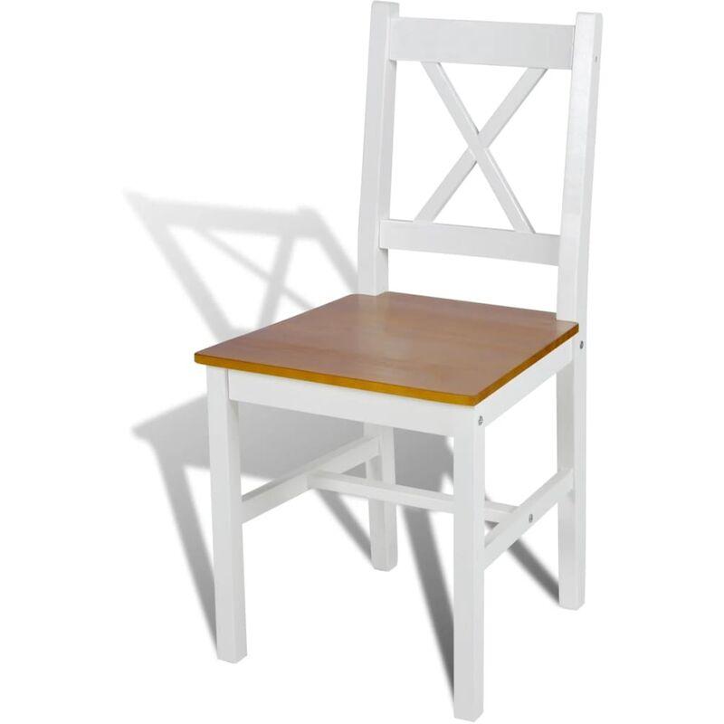 Sedie da pranzo cucina moderne set 2 pz in legno di pino 41 5x45 5x85 5 cm