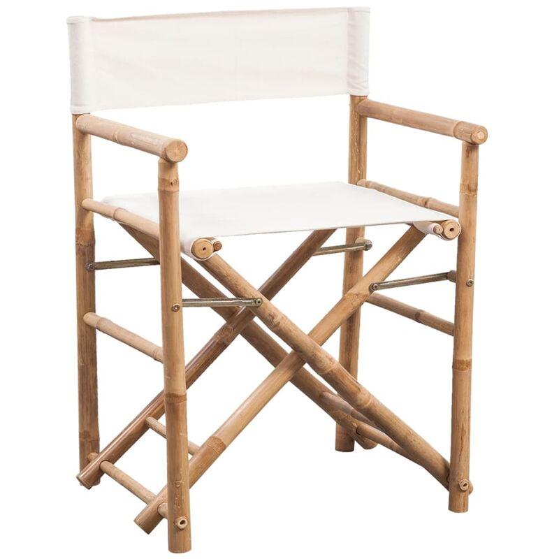 Sedie Da Regista Pieghevoli.Sedie Da Regista Pieghevole 2 Pz In Bambu E Tela