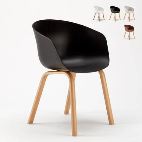 Sedie In Metallo Per Cucina.Sedie Design Scandinavo Metallo Effetto Legno Dexer Per Bar E Cucina