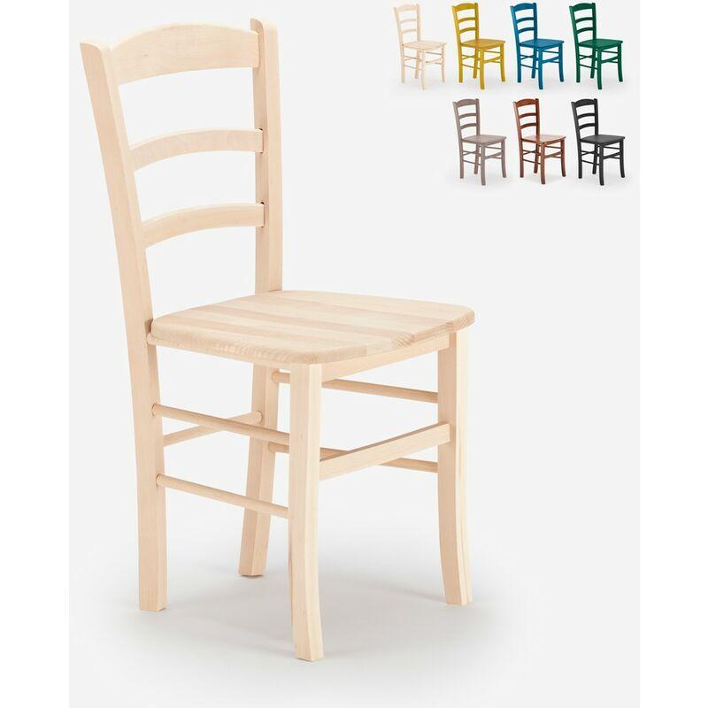 Sedie in legno classiche rustiche per sala da pranzo bar e trattoria PAESANA WOOD | Beige