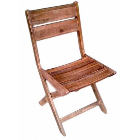 Sedie Pieghevoli In Legno Economiche.Sedie In Legno Di Acacia Anticata Pieghevoli Set Due Sedie Per