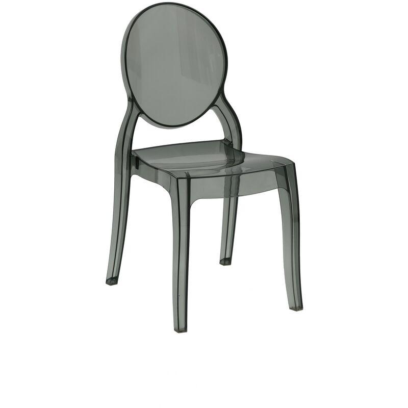 Altezza: 90 cm Larghezza: 45 cm Altezza Seduta 46 cm Profondit/à: 53 cm Fashion Commerce Set di 2 Sedie in Polipropilene Impilabile Victoria Ghost Multicolore Trasparente Fum/é