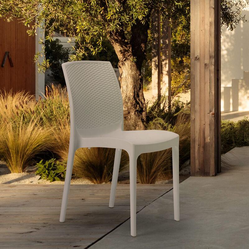 Sedie In Plastica Per Bar.Sedie In Poly Rattan Giardino Bar Ristorante Boheme Grand Soleil