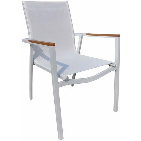 Sedie Per Ristoranti.Sedie Per Bar Giardini E Ristoranti In Alluminio Bianco Impilabili
