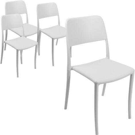 Sedie per bar pizzerie ristoranti e giardino set da quattro sedie in ...