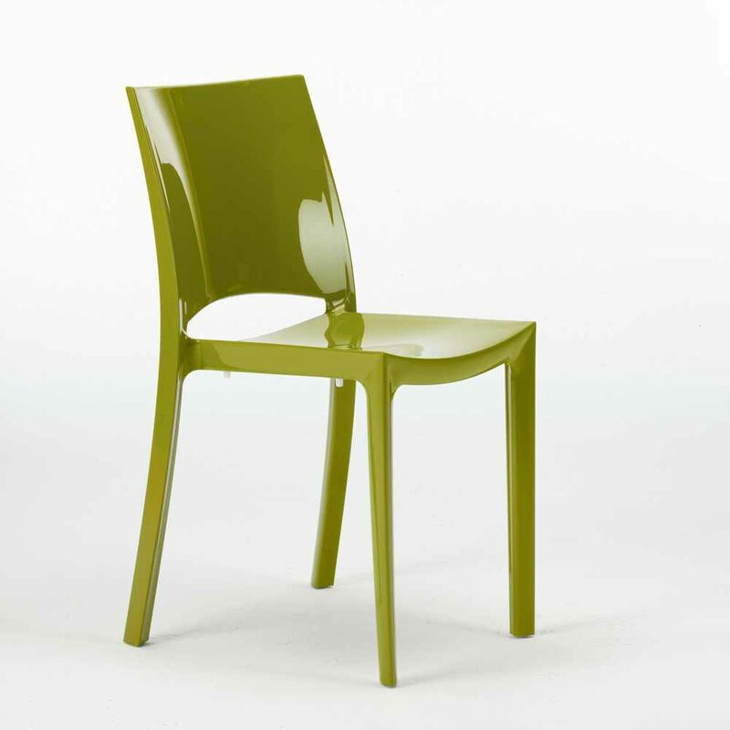 Sedie Per Cucina E Bar Lucida Grand Soleil Sunshine Design Moderno In Polipropilene Verde 2 S6215va