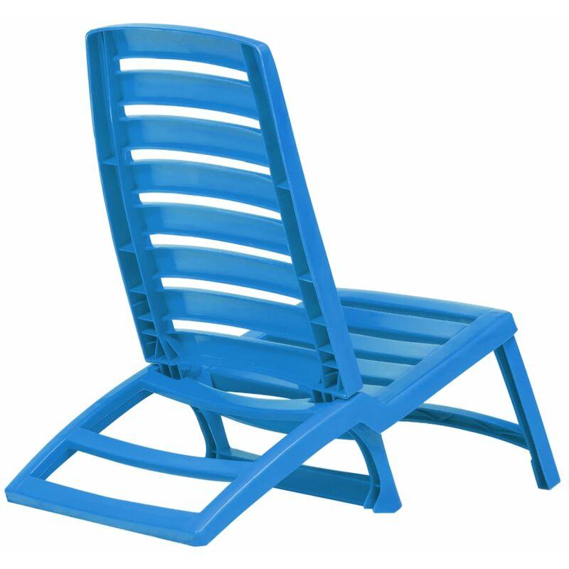 Sedie Pieghevoli In Plastica.Sedie Pieghevoli Da Spiaggia 4 Pz In Plastica Blu