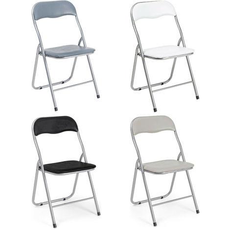 Sedie pieghevoli imbottite struttura in metallo sedia colorata ...