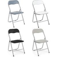 Sedie pieghevoli imbottite struttura in metallo sedia ...