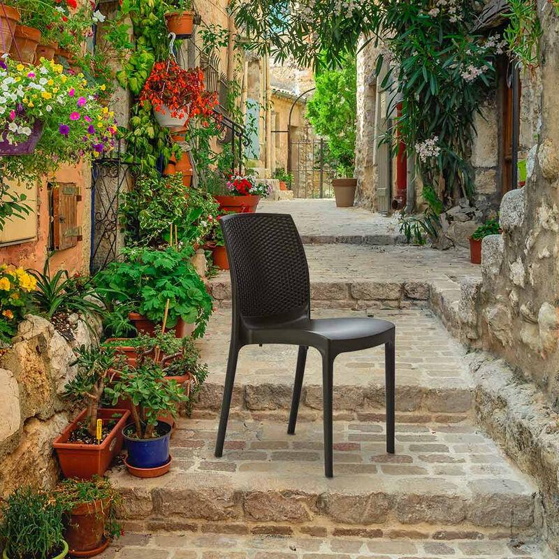 Produttori Di Sedie In Plastica.Sedie Plastica Poly Rattan Bar Gelateria Ristorante Impilabile