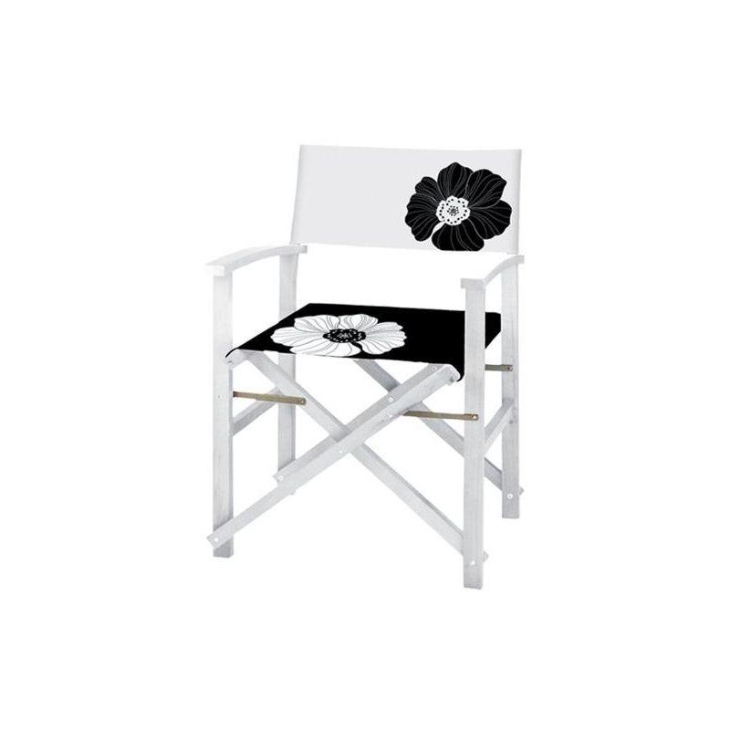 Sedie In Legno Laccate Bianco.Sedie Regista In Legno Laccato Bianco Serie White 56x48xh86 Cm 4