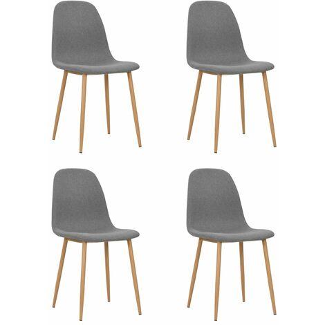 Sedie Sala da Pranzo 4 pz in Stoffa 45x55x85 cm Grigio Chiaro -