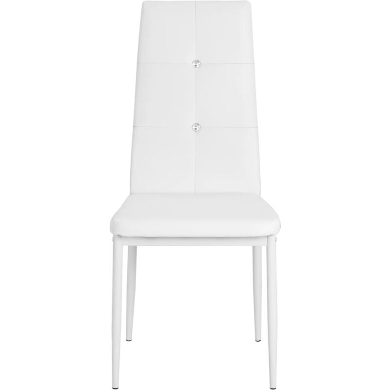 Vidaxl 2x Sedie Da Pranzo Pelle Nera Ergonomiche Moderne Seggiole Cucina Sala Arredamento Sala Da Pranzo