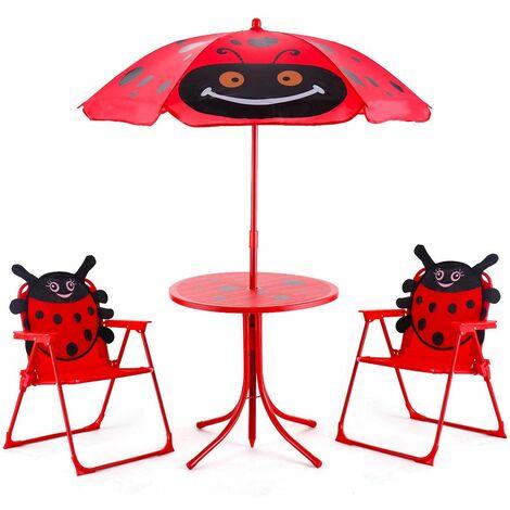 Il Gigante Tavoli Da Giardino.Sedie Tavolo Ombrellone Pieghevole Da Giardino Per Bambini Con