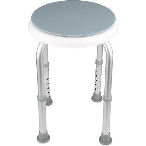 Sedile doccia 360 girevole Sgabello doccia Sedia da doccia regolabile in altezza Panca da bagno rotonda