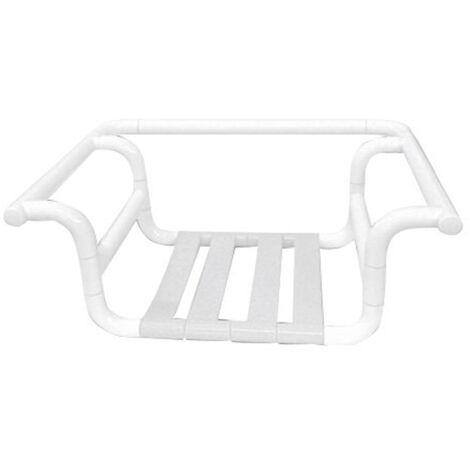 Sedile doccia con sostegno per bagno vasca disabili in alluminio nofer 15043.N