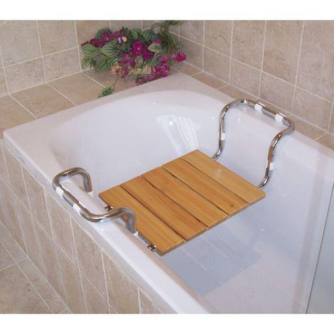 Sedile Per Vasca Larghezza Regolabile In Legno Massello Portata 120