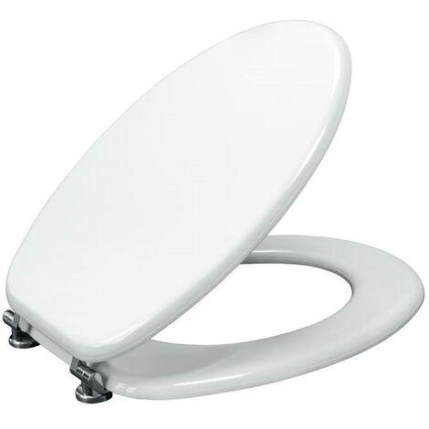 Sedile Wc Chiusura Rallentata.Sedile Wc Bagno In Mdf Chiusura Rallentata Bianco Universale