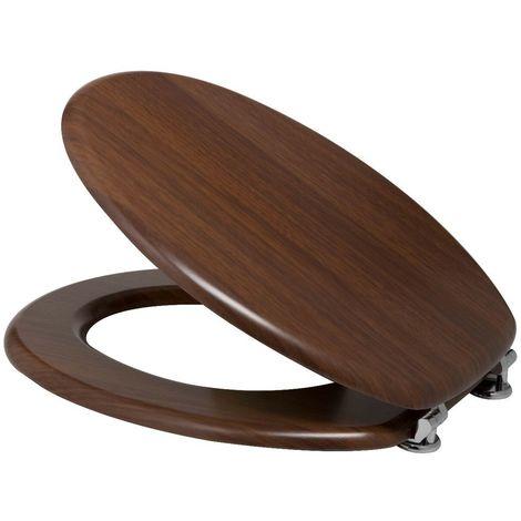 Sedile Wc In Legno.Sedile Wc Universale Copri Water Color Legno Noce In Legno 101085322