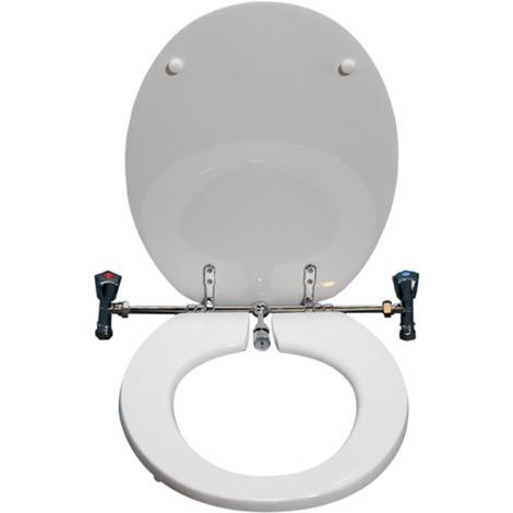 Sedile Wc Con Bidet Incorporato.Sedile Wc Universale Con Rubinetto Funzione Bidet Bianco 140 99 045 Bco