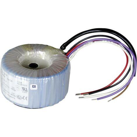 Sedlbauer 825027 Transformateur torique 1 x 230 V 2 x 15 V/AC 100 VA 3.34 A