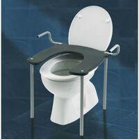 Seduta rialzo per wc o bidet con manici