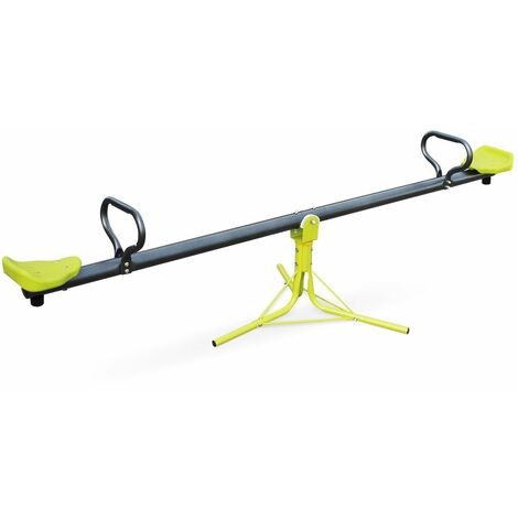 Seesaw - Green and grey Boune - teeter totter, garden equipment, outdoor play equipment