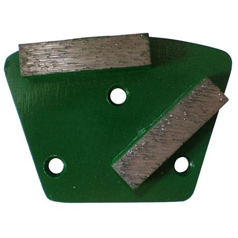 Segment de ponçage diamanté Gr 40 à 3 trous avec connexion M6 - béton frais, chape, matériaux abrasifs - Diamwood