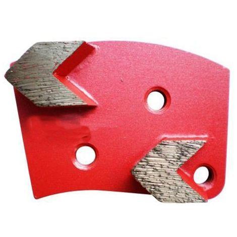 Segment de ponçage diamanté Gr 40 à 3 trous avec connexion M8 rotation droite - béton, époxy, chape - Diamwood
