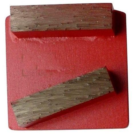 Segment de ponçage diamanté Gr 80 fixation Husqvarna - béton dur ou chape - Diamwood