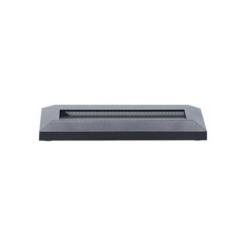 Kanlux - segna passo led 1,7 watt 20000 ore 220-240 volt CE IP65 bianco freddo esterno grigio rettangolare kan 22760