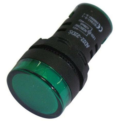 Segnalatore luminoso Melchioni a LED 24V colore Verde 492135042