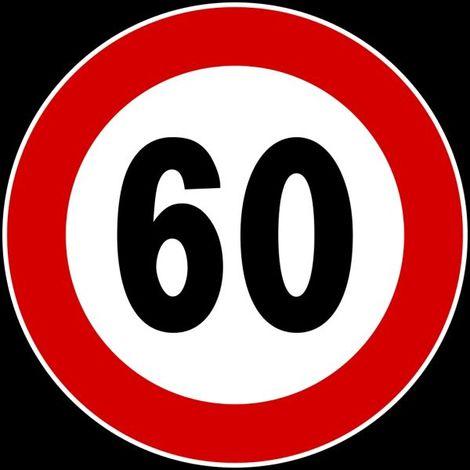 """main image of """"SEGNALE DISCO D.60 LIMITE DI VELOCITA' 60KM/h"""""""