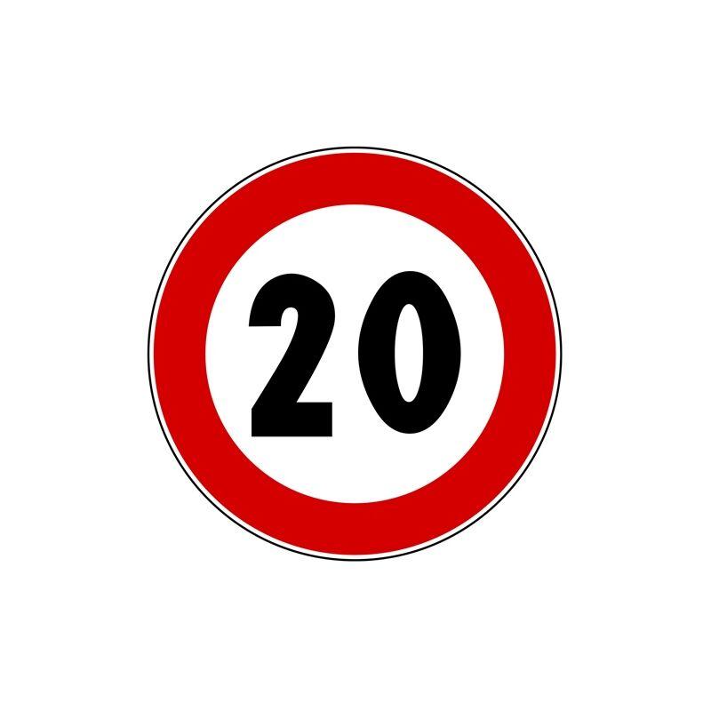 CARTELLI SEGNALETICI STRADALI DA CANTIERE LIMITE DI VELOCITA/' 20 KM//H