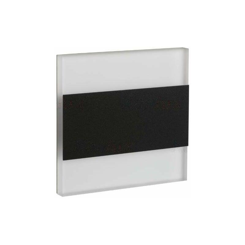 segnapasso a led 1,3 watt terra 220-240 volt CE IP20 bianco caldo interno nero kan 26847