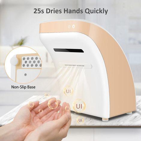 Sèche mains?automatique?électrique?850W?en?25s?sèche?votre?main?le?capteur?infrarouge?avec?chauffage Jaune - Jaune