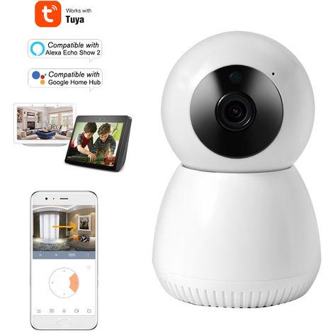 Seguridad para el Hogar camara WIFI 1080P Camara IP inalambrica, con deteccion de movimiento, blanca