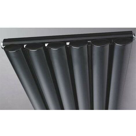 Sehdem Anthracite 1800x360 Vertical Oval Designer Radiator Central Heating