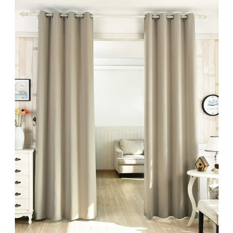 Sehr Elegante Vorhänge aus 100% Polyester Blickdicht mit Ösen