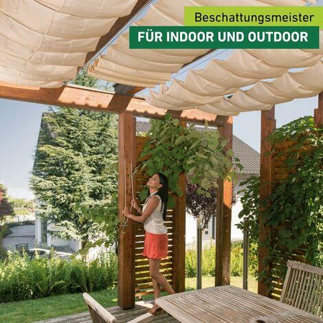 Seilspann-Sonnensegel 420x140cm beige/sand