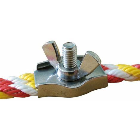 Seilverbinder Simplexklemme mit Flügelmutter für Seil Ø 5 - 6 mm, Edelstahl, Stück