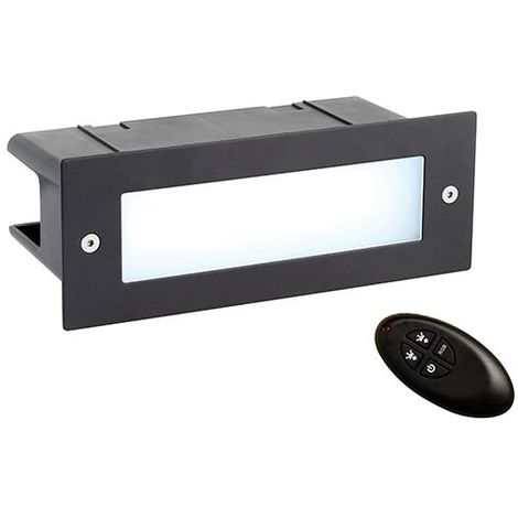 Seina RGB IP44 4.2W SW RGB Recessed Light - Textured Black Stainless Steel