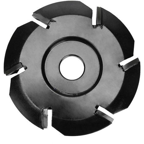 Seis bandeja de te de diente de excavacion de talla de madera de la herramienta de disco fresa, de 16 mm de abertura amoladora angular, negro