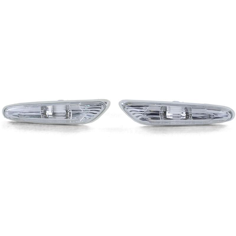Seitenblinker Weiß Paar BMW 3er E90 E91 05-11 E92 E93 ab 06 1er E82 E88