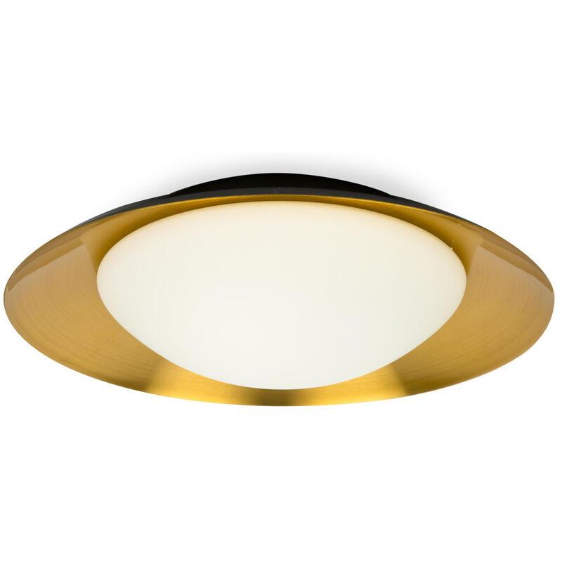 Click-licht.de - LED Wand- und Deckenleuchte Side, rund, schwarz, kupfer, 450 mm