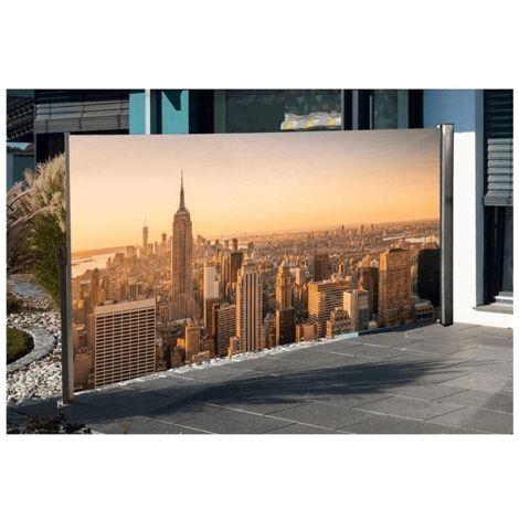 Seitenmarkise mit Fotodruck Motivdruck
