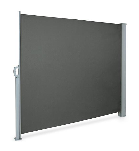 Alu Doppel Seitenmarkise Sonnenschutz Sichtschutz Windschutz Terrasse UV schwarz
