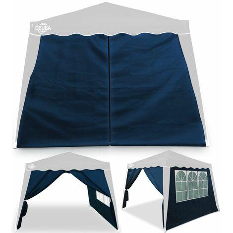 Deuba Pavillon 3x3m wasserdicht inkl. Tasche Faltpavillon Capri UV-Schutz 50+ Partyzelt Gartenpavillon Pop up 2x Seitenteil blau